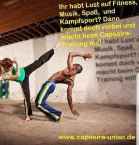 Neu! Immer Freitags für Jugendliche in Eschach neuer Capoeira Kurs !17:00-18:15 in der Eschacher Sporthalle!